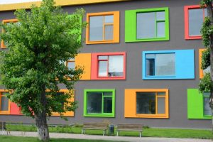 powder coated colour charts for colourful buildings