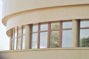balcony with wood effect finish