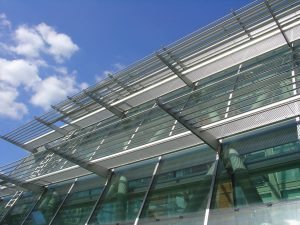 Large building with curtain walling
