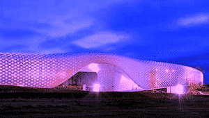 The Atoll Centre in France demonstrates the latest use of power coating technology by Interpon