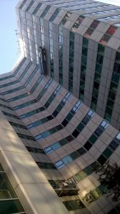 Picture of powder coated curtain walling.
