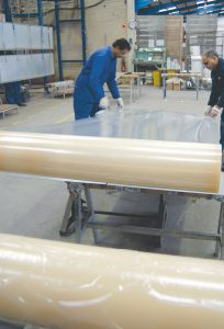 Protective Taping of aluminium